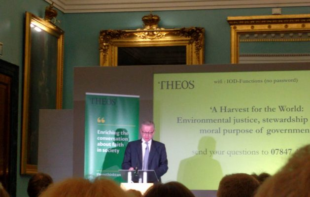 "Michael Gove on ""A Harvest for the World"" Report by Dr. Martin J Hodson"